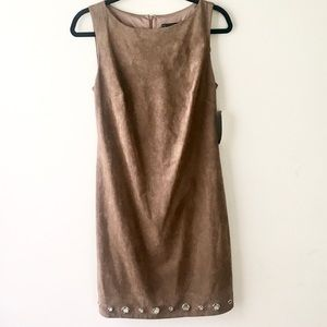 NWOT Jessica Howard faux suede dress